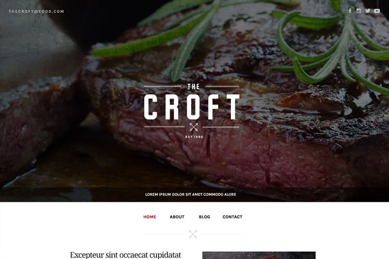 Sample WordPress theme - restaurant.