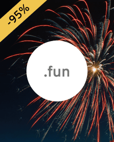 Domain .fun - for people involved in entertainment.