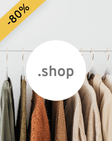 Doména .shop - created for online stores.